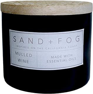 Sand + Fog Mulled Wine Scented Candle Wooden Lid