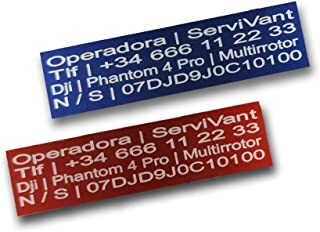 SERVIVANT ● Kit de 2 Placas Identificativas para Drones �
