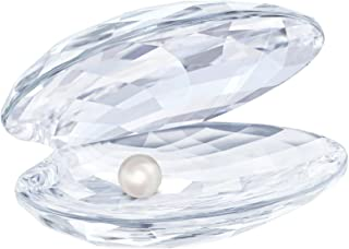 Swarovski Crystal Shell with Pearl, Large