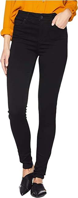 Mia High-Waisted Skinny Jeans in Black