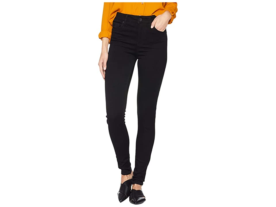 KUT from the Kloth Mia High-Waisted Skinny Jeans in Black (Black) Women
