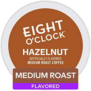 Eight O'Clock Coffee Hazelnut, Single Serve Coffee K-Cup Pod, Medium Roast, 72