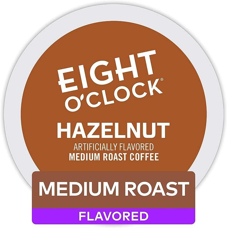 Eight O Clock Coffee Hazelnut Single Serve Coffee K Cup Pod Medium Roast 96