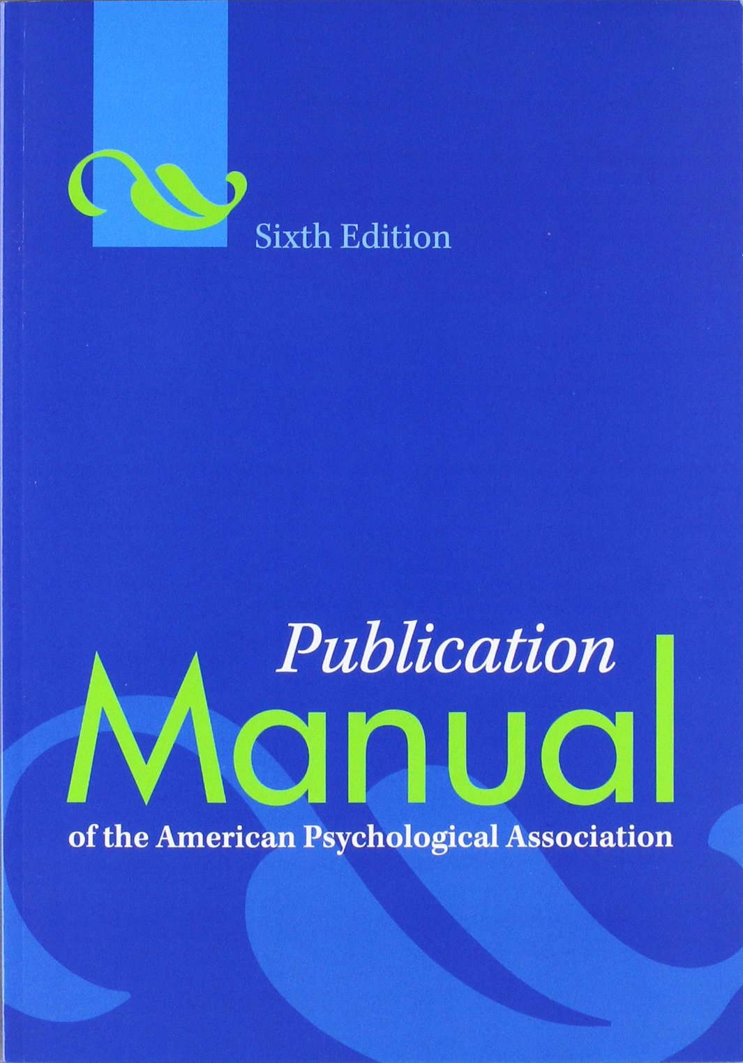 Amazon Com Publication Manual Of The American Psychological Association 6th Edition 3520100021035 Association American Psychological Books