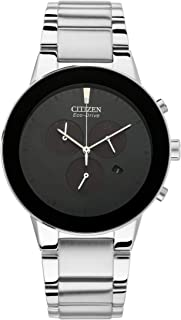 CITIZEN Mens Solar Powered Watch, Analog Display and Stainless Steel Strap AT2240-51E