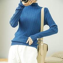 Dames Trui - Mode Herfst En Winter Half Coltrui Dames Warme Trekkoord Gebreide Trui Slim Fit Stretchy Zachte Multicolor La...