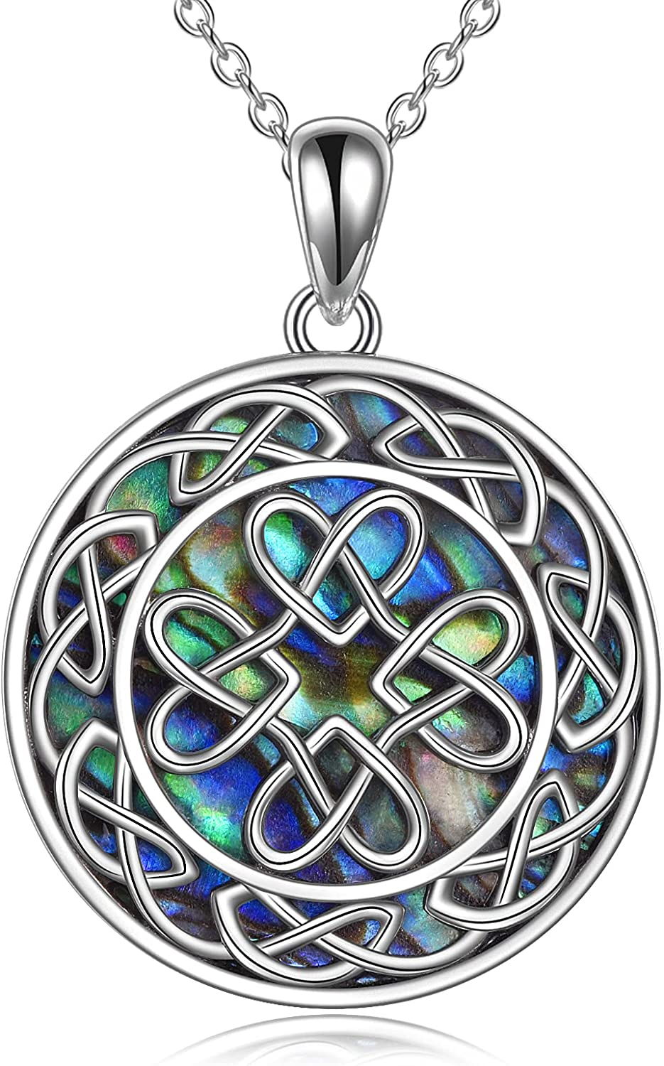 POPLYKE Viking Celtic Triskele Trinity Ranking TOP7 Outstanding Cross Necklace with Knot