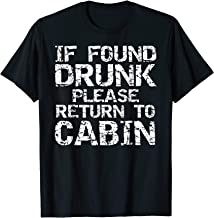 If Found Drunk Please Return to Cabin Shirt Funny Cruise Tee