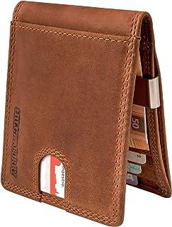 Hill Burry Cartera de Cuero de Pequeño | RFID Billetera - Monedero de Minimalista de Compacto | Carteras de Crédito - Bols...