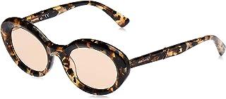 نظارات شمسية للنساء من ديزل DL028156G50- عدسات عاكسة بلون هافانا/بني - بلاستيك