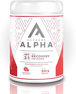 Supreme Alpha ADVANCED Post Workout Recovery Supplement for Women Muscle Builder with Protein Powder and Carbohydrates BCAA's Glutamine Vitamin-D Zero Sugar Keto Friendly for Healthy Life |15 Servings