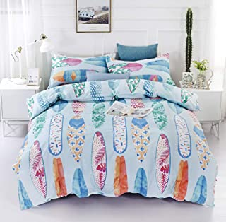HTgroce Bedding Duvet Cover 2 Piece Set – Ultra Soft and Lightweight Brushed Microfiber Home/Hotel Collection with Zipper and Pillow Shams,Surfboard,Twin