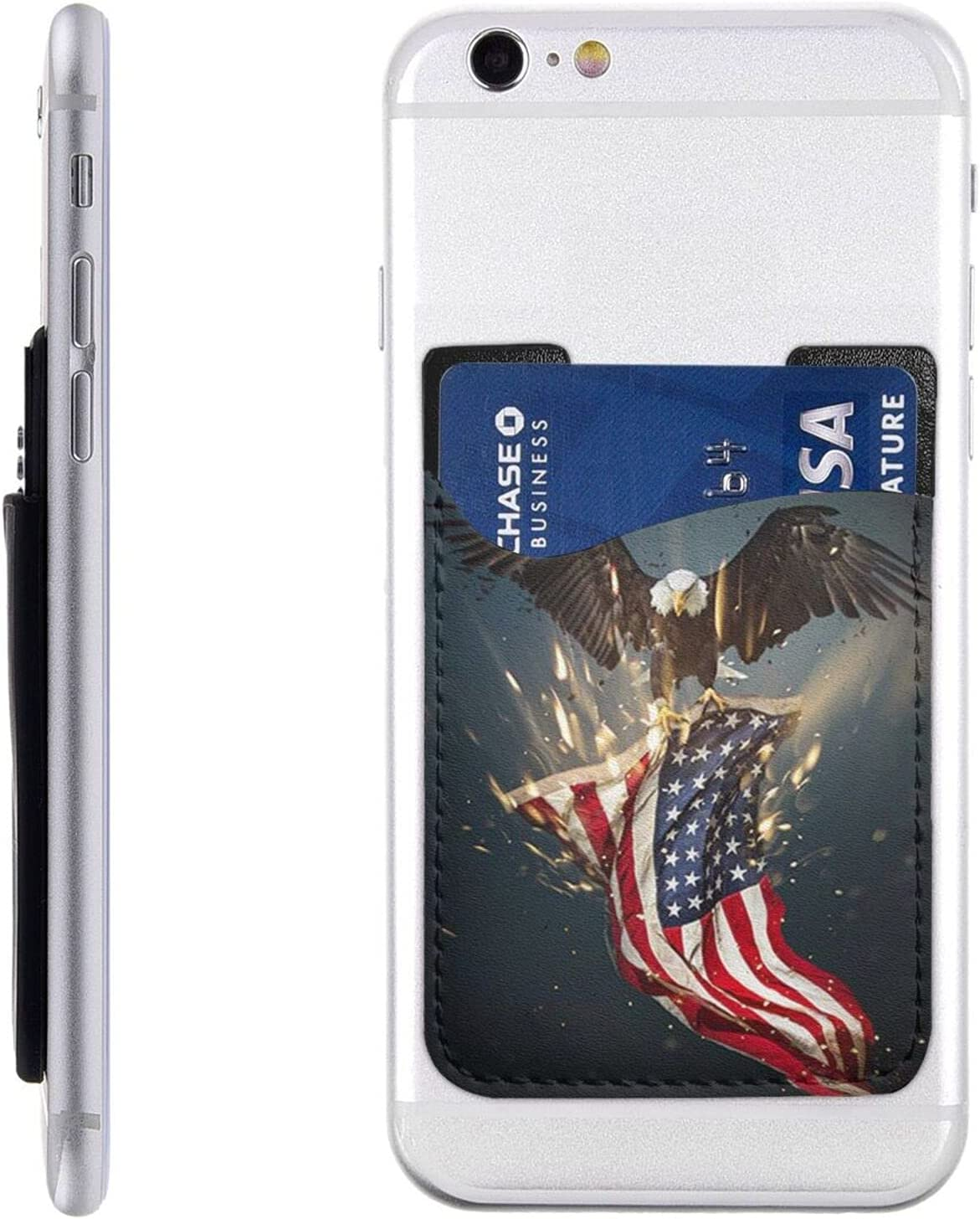 North American Bald Eagle Phone Card On Stick Holder Cell New York Mall Store