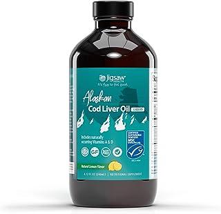 Jigsaw Health Alaskan Cod Liver Oil - Liquid with Natural Lemon Flavor - Omega-3 Fatty acids & Naturally Occurring Vitamin...