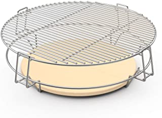 only fire Barbecue Cooking Grate System for 22 Weber Kettle Grill and Other Similar Size Kettle Grills