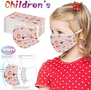 10/20/50/100 PCS Children's Fashion Face Cover, Disposable Breathable 3-Ply Anti-Dust Face Cover With Elastic Earloop Non-woven Anti-Particle Anti-droplet Anti-pollen,For Kids Kiddie