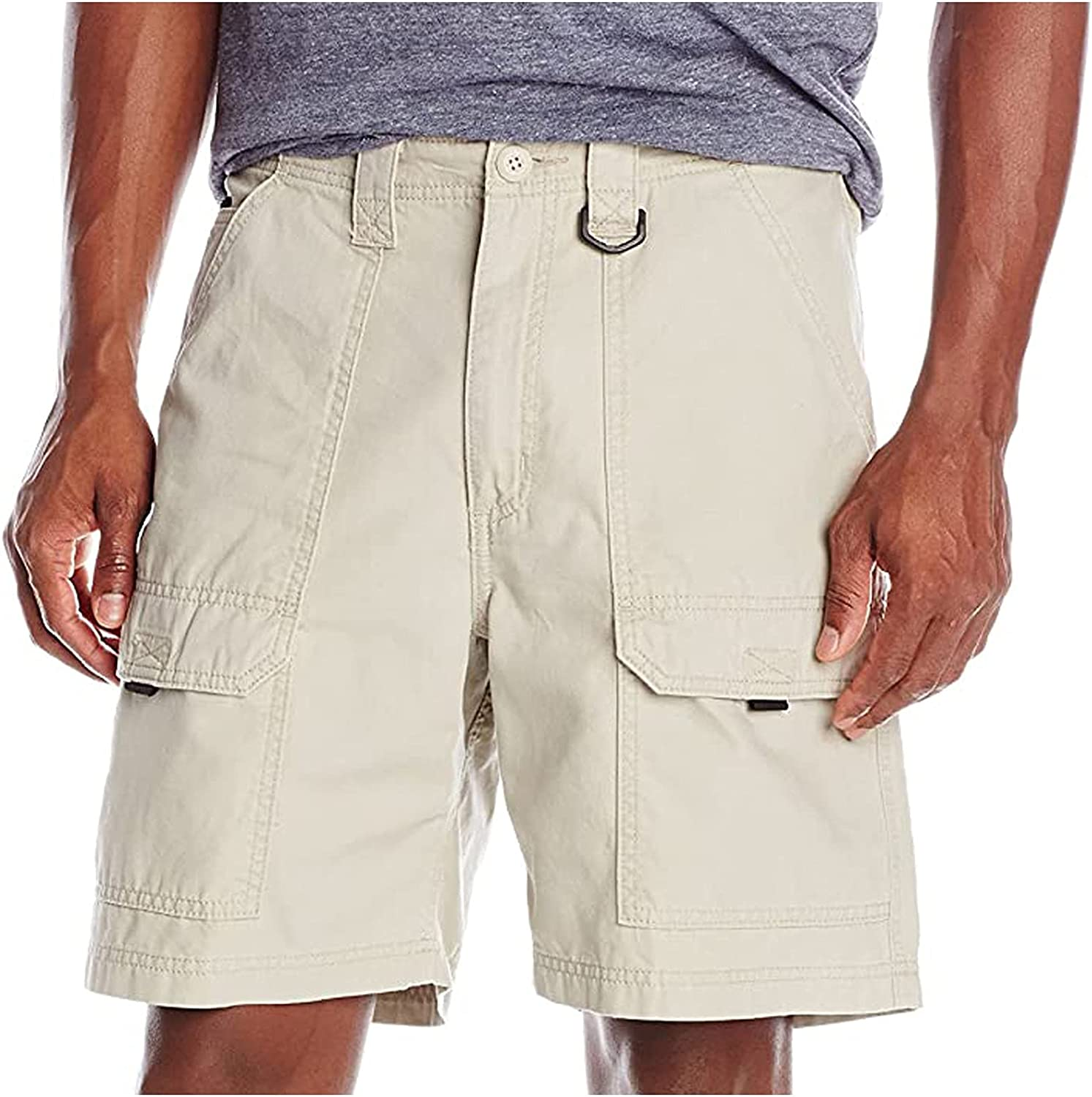 ZSCC Men's Cargo Shorts with Pockets Short Work Pants Casual Cargo Pants Short Pants Men's for Leisure Short Chino Pants