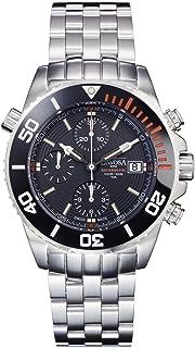 DAVOSA - Swiss Argonautic Lumis Chrono 161.508.60 Diver Reloj de pulsera para hombre con correa de acero