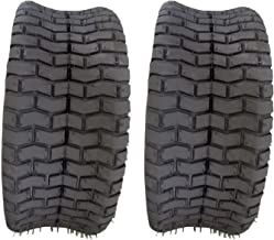 Autoforever Pack of 2 16X6.50-8 Turf Tires 4 Ply Tubeless Fit for Garden Tractor Lawn Mower 16x6.5x8