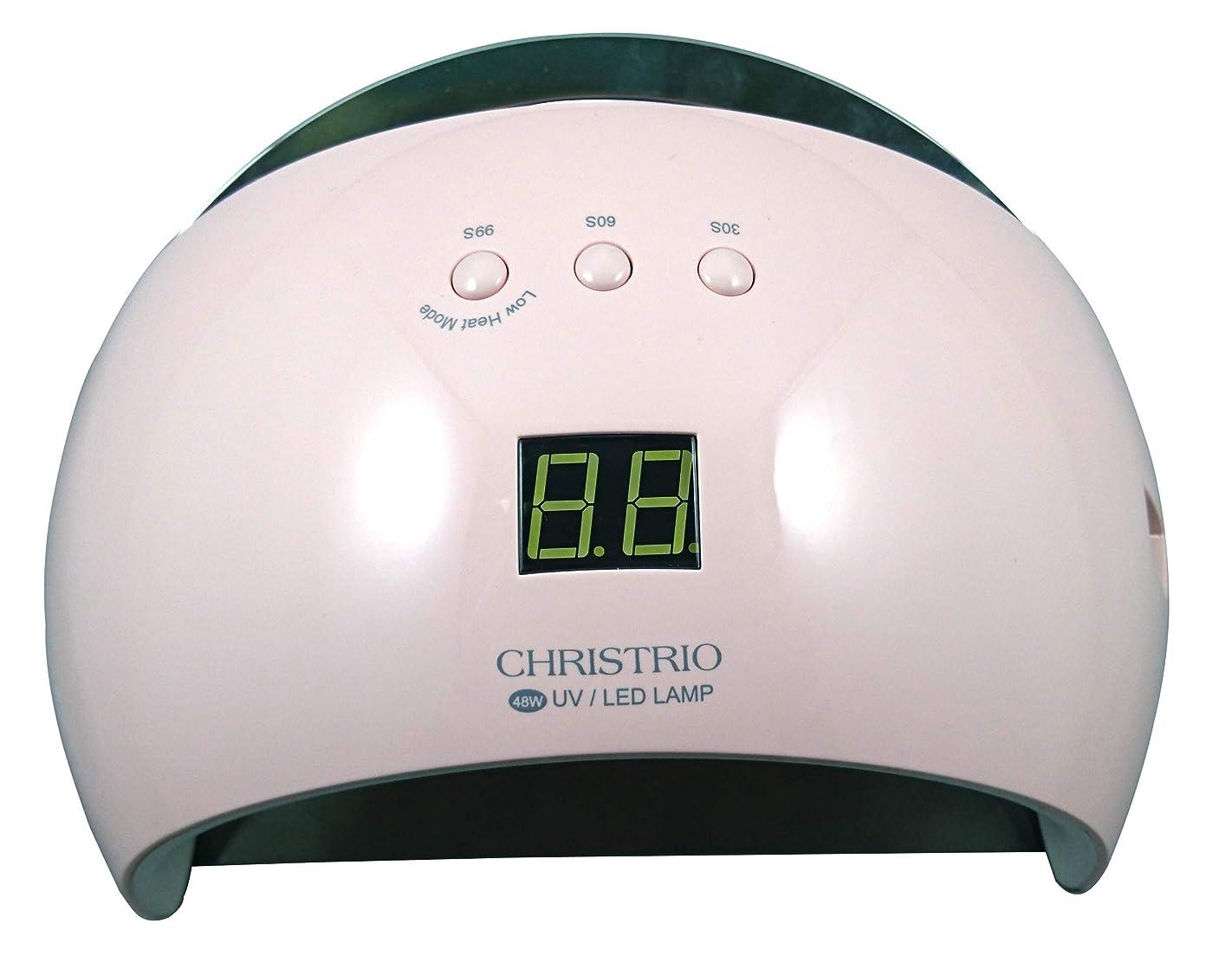 ブレンドスプレー千CHRISTRIO 48W Pearl LED/UVランプ ピンク