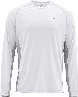 Simms Solarflex UPF 50+ Crewneck Shirt – Long Sleeve Sun Protection Fishing Shirt for Men – Lightweight, Breathable, Moisture Wicking & Anti Odor