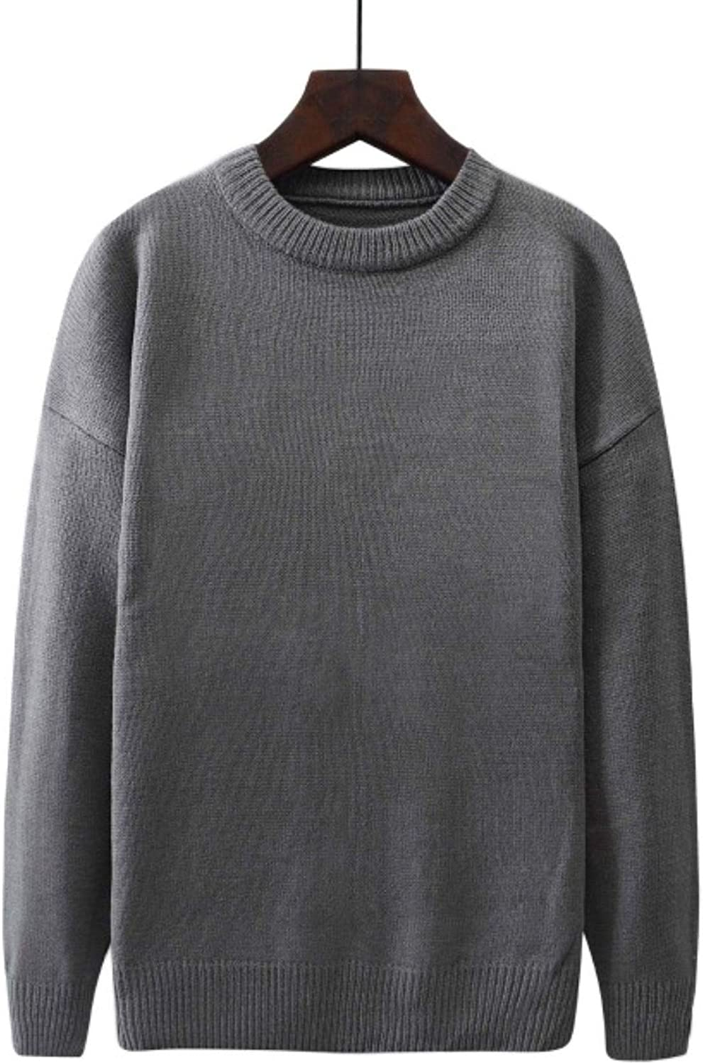Winter New Plus Size Loose Knitted Autumn Cas Solid Don't miss the campaign Men Pullover All stores are sold