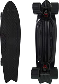 veZve Skateboard Complete 22 Inch Cruiser Bendable Deck for Kids Beginners or Pro PU 59mm Wheels ABEC-7 220 Ibs
