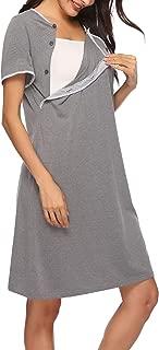 Sykooria – Vestido de mujer, de algodón, de manga corta
