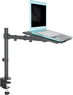 VIVO Single Laptop Notebook Desk Mount Stand – Fully Adjustable Extension with C..