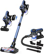 APOSEN Cordless Vacuum Cleaner, Upgraded 24000pa Stick Vacuum 5 in 1 with 250W Powerful Brushless Motor, Detachable Batter...
