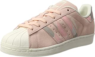 adidas Originals Womens Superstar Fashion Suede Lace Up Trainers - Pink