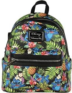 Loungefly Disney Lilo & Stitch Hawaiian All Over Print Mini Backpack