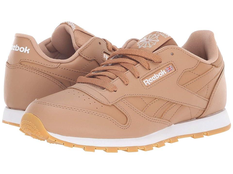 Reebok Kids Classic Leather (Big Kid) (Soft Camel/White) Boys Shoes