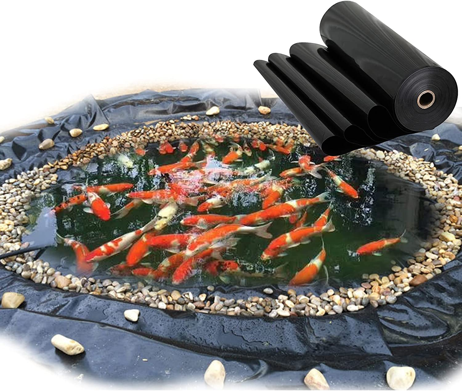 ZYFA Pond Liner Black Skins 格安激安 for Small HDPE 定価 Pon Rubber