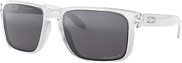 Oakley Holbrook Sunglasses/Polished Clear/Prizm Black Polarized (9102-H355)