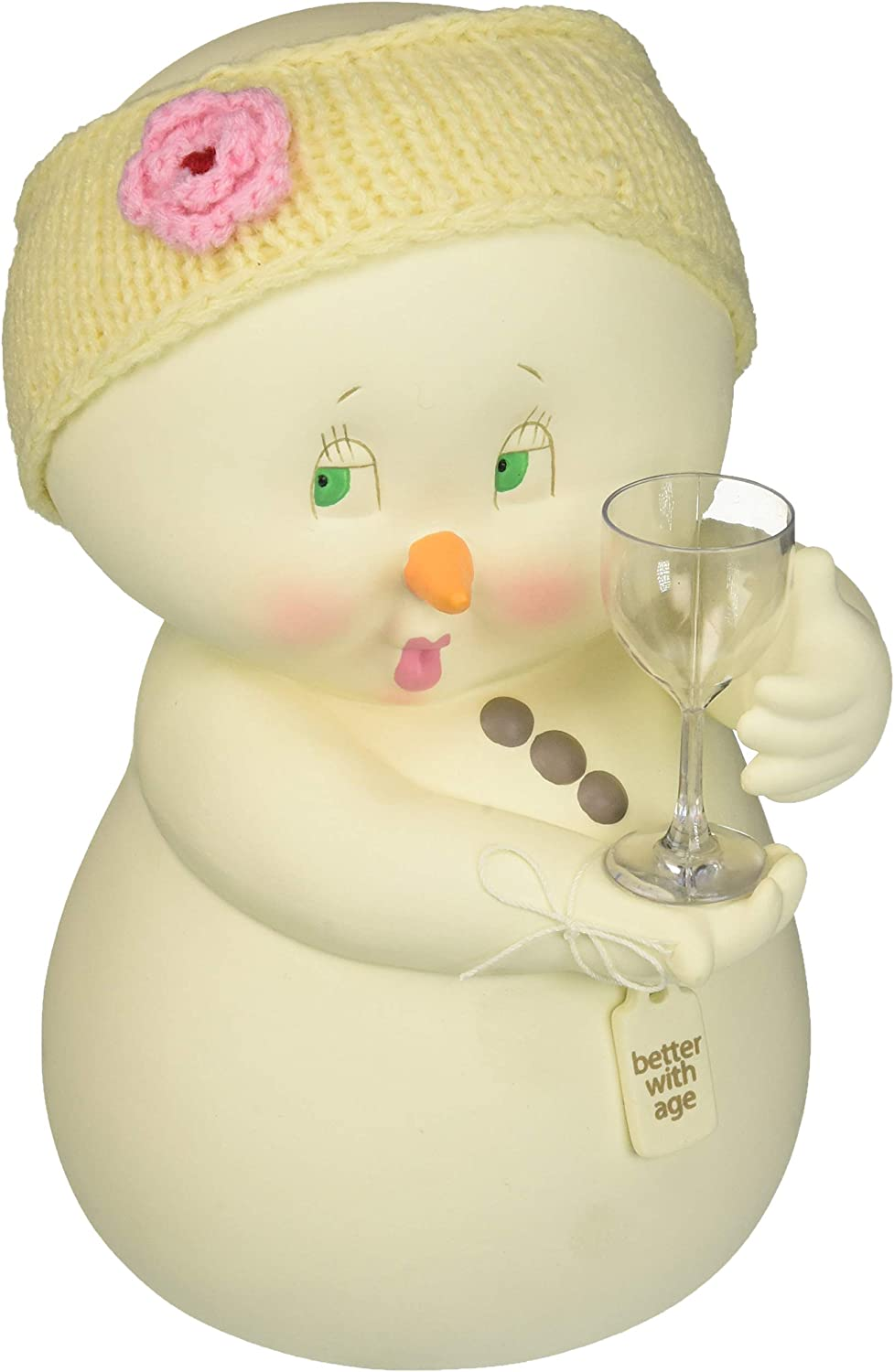 "Department 56 Snowpinions ""Better With Age"" Porcelain Christmas Figurine, 8.75"""