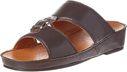 3fbffad266 Geox Flat Casual Sandals for Men - Dark Brown, 42 EU