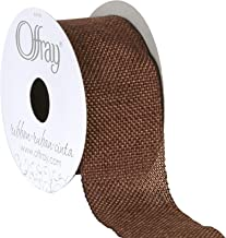 """Berwick Offray 1.5"""" Wide Rustic Saddle Polyester Ribbon, Mud Pie Brown, 3 Yards"""