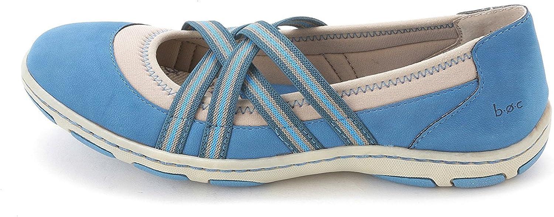 B.O.C Born concept Women's Nambe Round Toe Walking shoes, bluee, Size 8.5