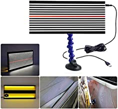 SKYHY224 Car LED Stripe Line Board Light with Suction Cup,Paintless Dent Repair Tool Kit 5V USB PDR Lamp Reflective Borde with Ajustment Holder and 5m Line Reflective Bord for Dent Repair