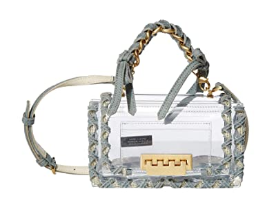 ZAC Zac Posen Earthette Top-Handle Crossbody Accordion Glass Denim (Clear) Handbags