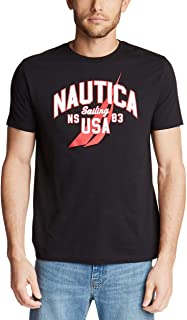 Nautica Men's Short Sleeve 100% Cotton Nautical Series Graphic Tee