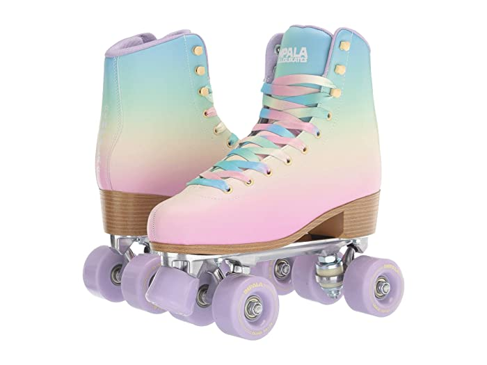 Vintage Sneakers, Retro Designs for Women Impala Rollerskates Impala Quad Skate Big KidAdult Pastel Fade Girls Shoes $100.00 AT vintagedancer.com