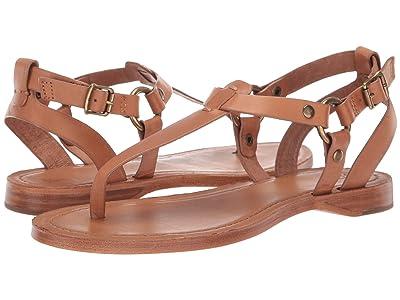 Frye Rachel Ring T-Strap (Camel) Women