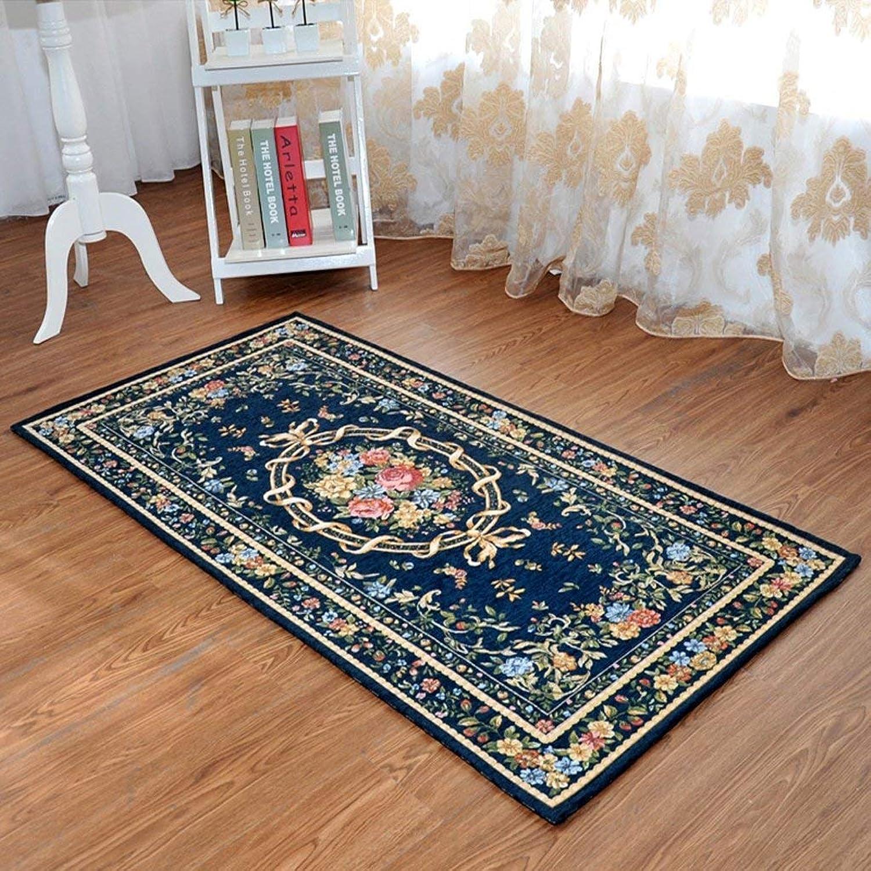 Carpet Doormat Hall Bedroom Bedside Stairs Step Mat bluee Entrance Kitchen Mat (Size   40  60cm)