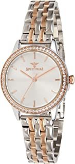 Spectrum Women's White Dial Stainless Steel Band Watch - 25163L-8