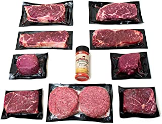 Aged Angus Filet Mignon Top Sirloin NY Strip Ribeye and Premium Ground Beef by Nebraska Star Beef - All Natural Hand Cut and Trimmed - Steak Gift Packages Delivered to Your Door