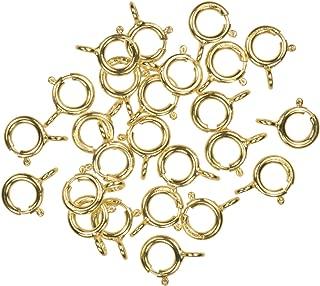 uGems 25 14K Gold Filled Spring Ring Closed-End H-Finish 5mm