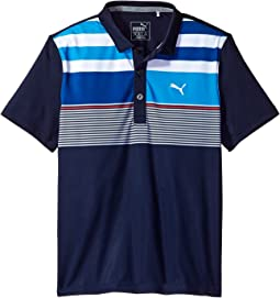 PUMA Golf Kids - Road Map Asymmetrical Polo JR (Big Kids)