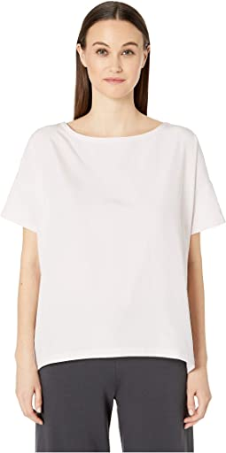Bateau Neck Short Sleeve Top